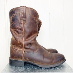 Ariat Rambler Western boot in oiled dark brown